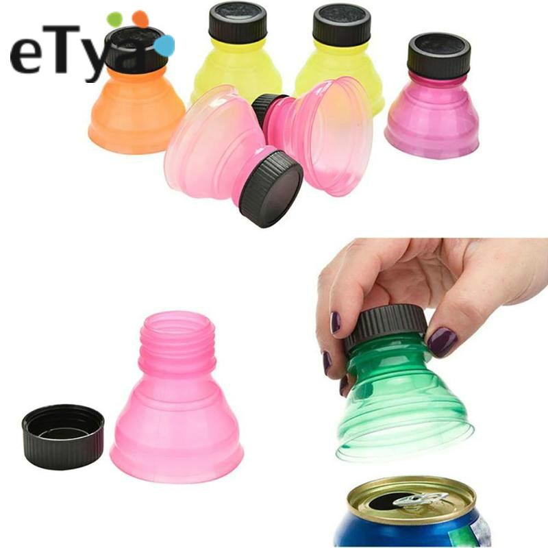 ETya 6pcs/1pc Drink Dust Seal Cover Soda Can Saver Color Mixing Beer Beverage Flip Bottle Top Lid Protector Wine Bottle Stopper