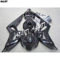 Allgt литья под давлением Пластик мотоцикл обтекатель комплект для Honda CBR 1000RR 2006 2007 глянцевый черный