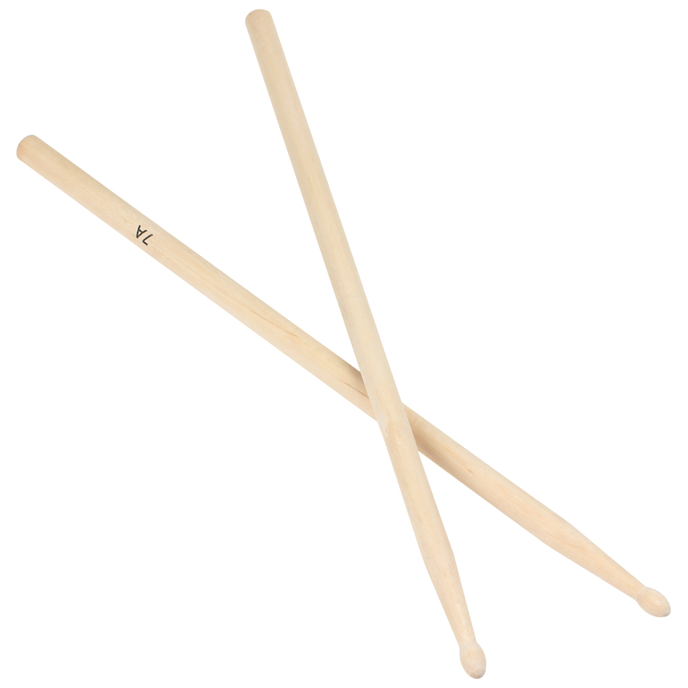 2pcs/lot 405mm Lightweight Endearing Music Band Hard Durable Maple Wood Oval Tip Drum Sticks 7A Drumsticks