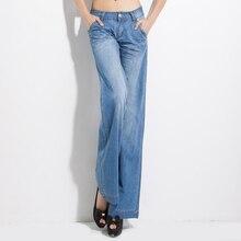 дешево!  Джинсы с широкими штанами 2019 Весенние женские джинсы для женщин Женские повседневные брюки Джинсы