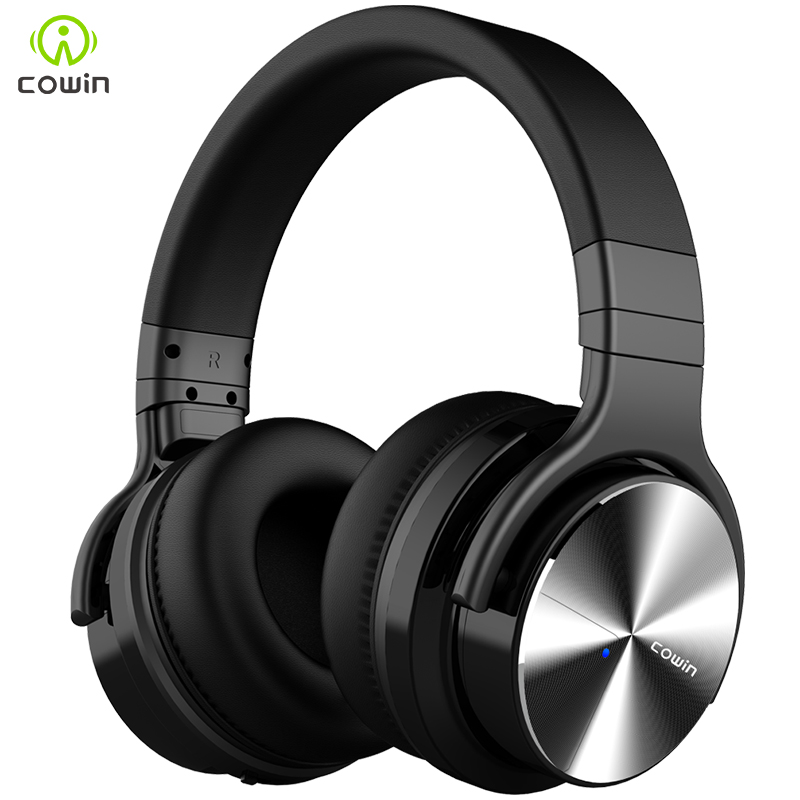 Cowin E7-pro Bluetooth fone de ouvido de redução de ruído ativo subwoofer gaming headset fone de ouvido sem fio esportes