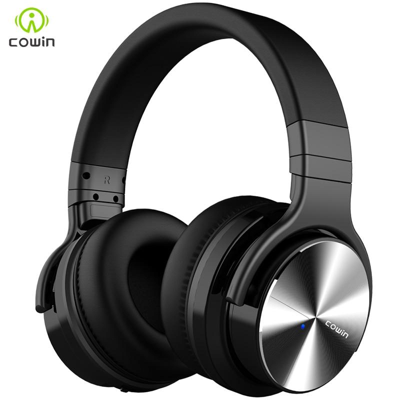 купить Cowin E7-pro active noise reduction Bluetooth headset subwoofer sports gaming headset wireless headset по цене 4589.15 рублей
