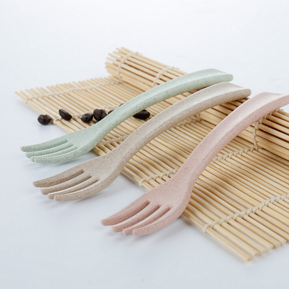 Baby Safety Feeding Food Fork Baby Infant Environmental Flatware Fork