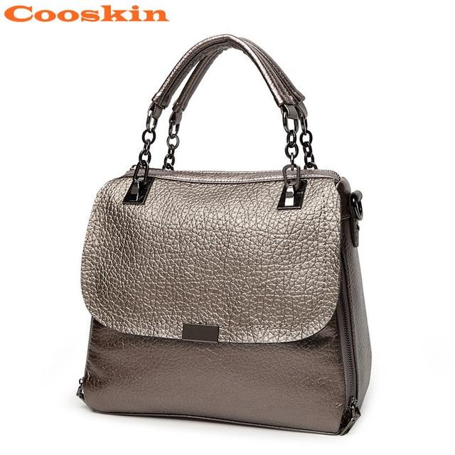 Cooskin 2017 New Arrival Women Bag Fashion Genuine Leather Handbag Crossbody Shoulder Designer Handbags