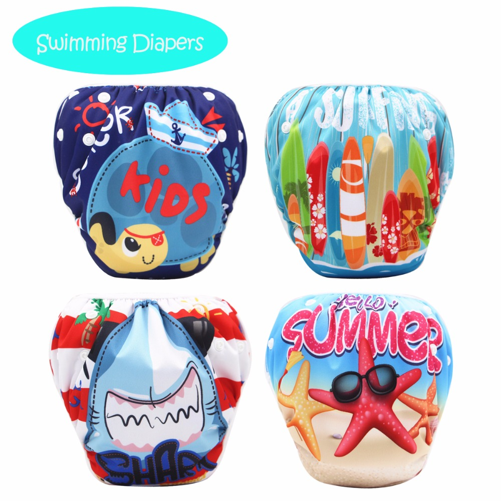Fashion Baby One Size Swim Diaper Swim Pool Baby Swim Nappy Cover 1PCS Pants