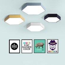 Ультратонкий светодио дный светодиодный современный потолочный светильник шестигранный Железный акриловый закрытый светильник кухня кровать комната крыльцо украшения светильник AC110-265V