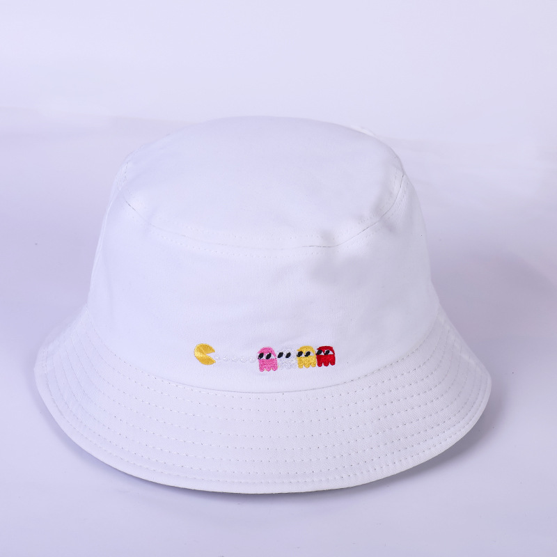 119d609dfee 2018 Hot sell summer men women Bucket Hat Bob Ghost And Pac Man Panama  bucket Caps polo hat Unisex Bucket Hat-in Bucket Hats from Men s Clothing  ...