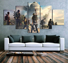 5 Piece Home Painting Decorative Tom Clancy's The Divisio Game HD Print Wall Art Canvas For Living Artwork