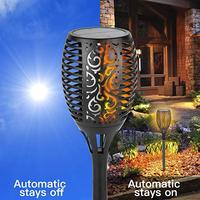 96 LED Solar Torch Light Waterproof Solar Power LED Flame Light Outdoor Landscape Decoration Garden Lamp