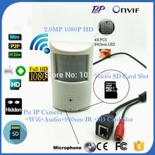 HD P2P Mini IP Wifi Wireless Pin hole PIR Camera 1080P 2MP 940NM Invisible Night Vision