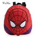 Winmax moda 3D homem aranha bebê jardim de infância mochila pequena fresco saco de 2 ou 3 anos de idade garoto luz Anti-perdido saco de corda