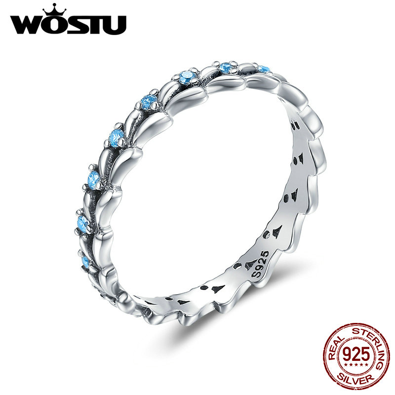 wostu high quality 925 sterling silver treading wave rings for women fashion s925 party jewelry aliexpress gift cqr162