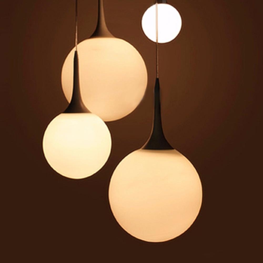 Floureon Suspension Pendant LightSpherical Lamp Milky Glass Shade Decorative Light For Dining