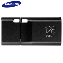 SAMSUNG USB Flash Drive 128GB USB 3.0 Type c Metal Black Pen Drive Tiny Pendrive Memory Stick U Disk For usb type-c Mobile Phone
