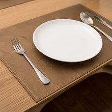 Harting Кожаные Салфетки Нескользящие изоляционные салфетки обеденные декоративные коврики для стола