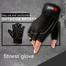 1 Pair Women/Men Gym Gloves Building Training Fitness Exercise Weight Protect Wrist Fingerless