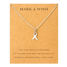 Ribbon Cancer Awareness Pendant Necklaces Antique Silver Moon Mountain Infinity Chain Necklace Women Fashion Trendy Jewelry breast cancer ribbon with epoxy heart charm pendant necklace
