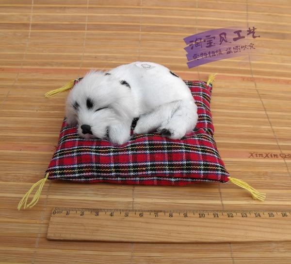 ⊰جديد الإبداعية محاكاة بقعة الكلب نموذج لعبة الراتنج والفرو النوم