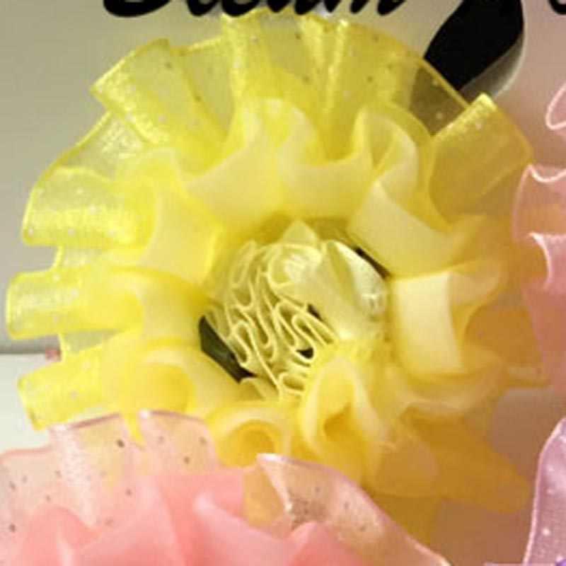 Bleum บ้าน 2 ชิ้นตุ๊กตาเด็กคลิปผมลูกไม้กลีบดอกไม้ถาดเจ้าหญิงที่หนีบผมอุปกรณ์เสริมผมเด็กคลิป