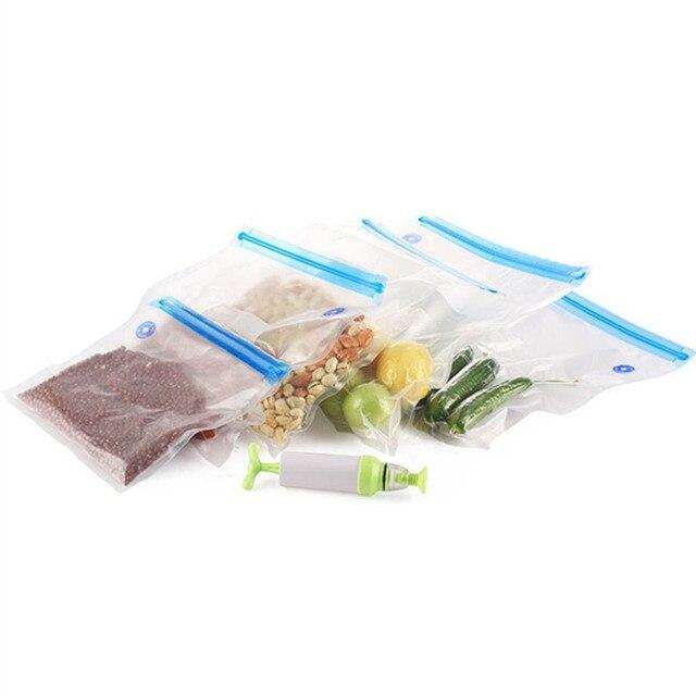 5 pièces poignée Sous Vide scellant Vacuumzak Handpomp poche Verpakkings Machine Voedsel Sous Vide Met Sous Vide Ziplock Tassen sacs 4