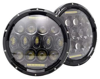75W 12V/24V LED Modified Headlights Off-road Vehicle Modifying Low & High Beam LED Spot Lights Refit External Round LED Light