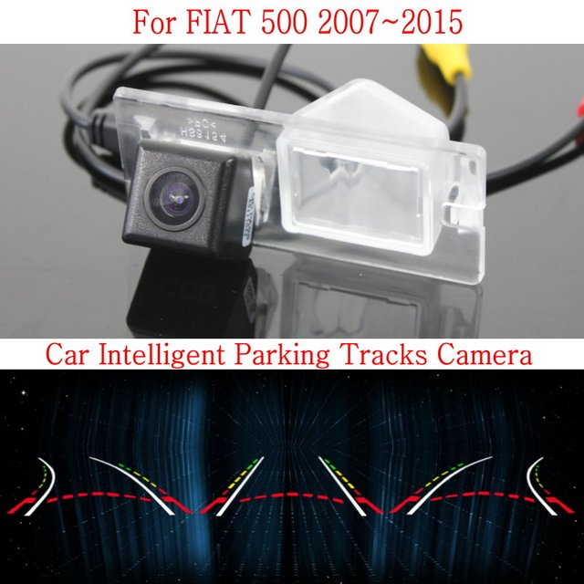 Car Intelligent Parking Tracks Camera FOR FIAT 500 2007~2015 / HD Back up Reverse Camera / Rear View Camera