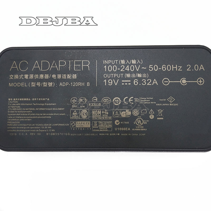 Адаптер для ноутбука Asus 19V 6.32A 5,5*2,5 мм ADP-120RH B для Asus N750 N500 G50 N53S N55 N552VX N552VW G50V ультратонкий блок питания переменного тока