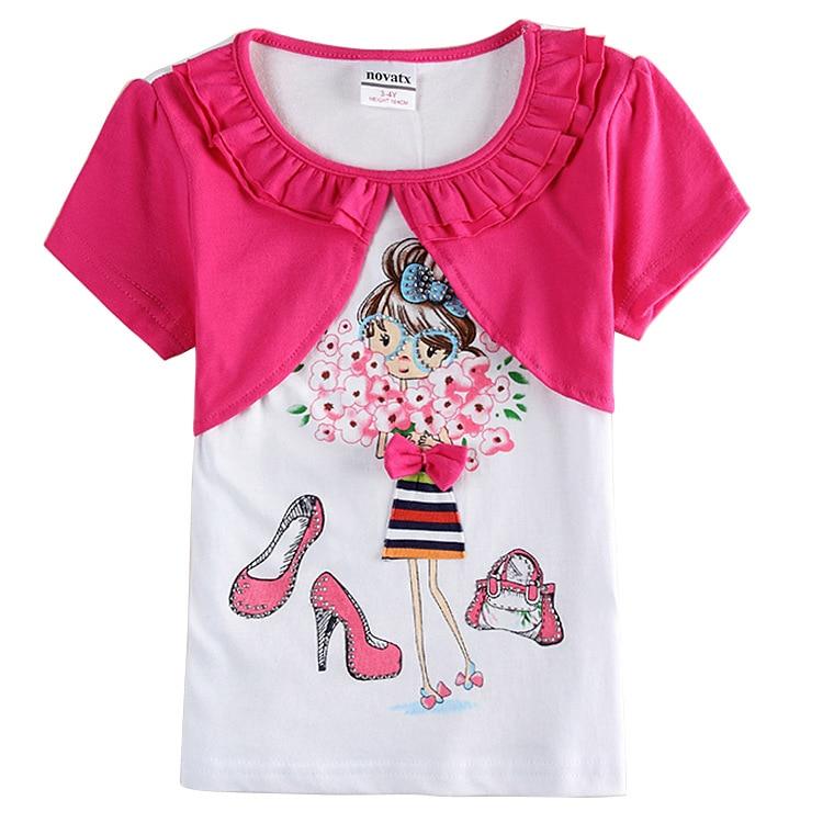 brand girl t shirt,rose red white kids t shirt,children t ...