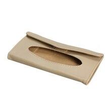 Car Sun Visor PU leather Tissue Paper Box Case Holder