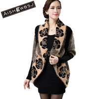 2014 New Winter Hot Sale Women Woolen Sweater Plus Size Batwing Sleeve Thick Full Sleeve Cardigans