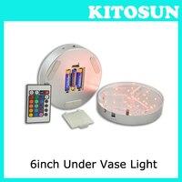 20pcs Lot 6inch Base Light LED Base Light With 19 Super Bright Multicolors Led Vase Illuminator