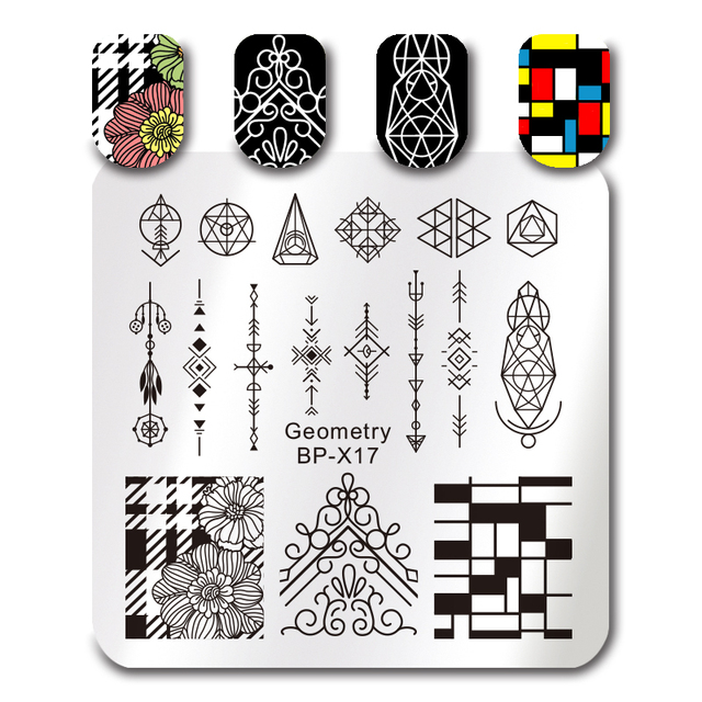 AliexpressCom  Buy Born Pretty Square Stamping Template Cm