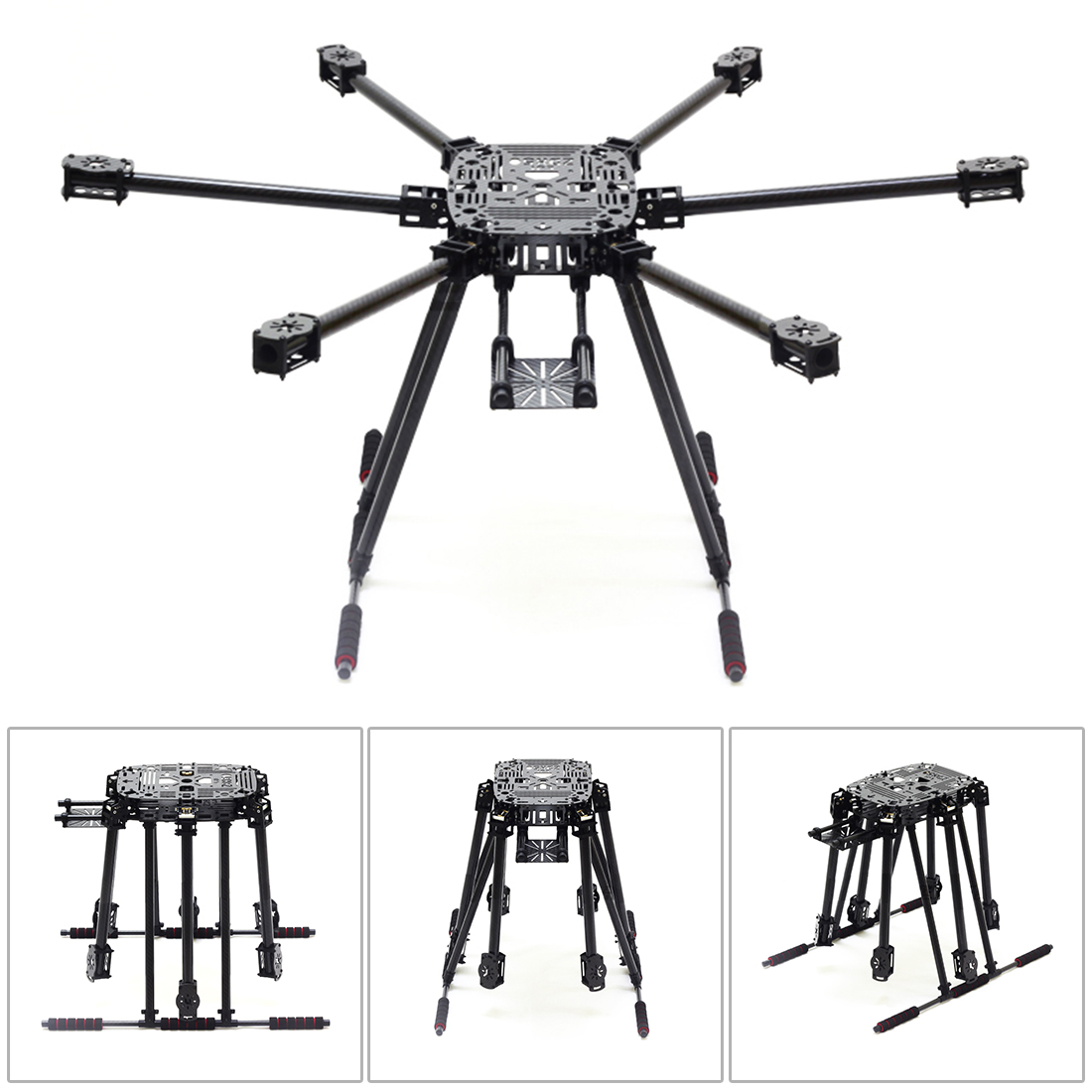ZD850 Full Carbon Fiber ZD 850 Frame Kit with Foldable Arm Unflodable Landing Gear for FPV DIY Aircraft Hexacopter zd850 full carbon fiber frame kit with unflodable landing gear foldable arm 6 axle hub set for diy fpv aircraft hexacopter