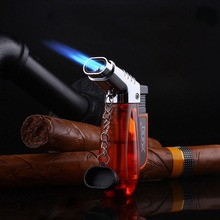Transparent Visible Gas Lighter Torch Turbo Cigar Cigarette Lighters supplies Electronic Smoking Accessories