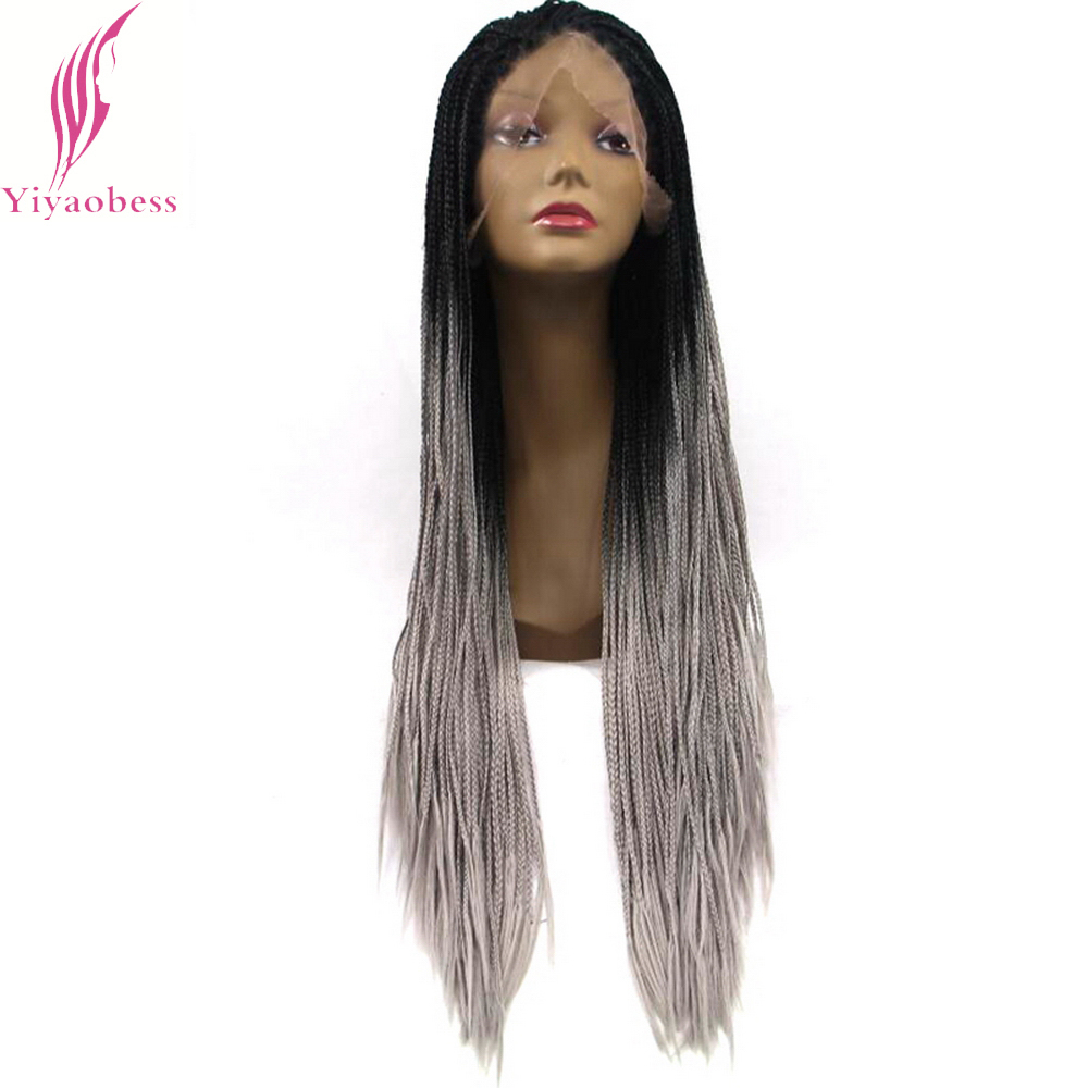 Charisma Synthetic Lace Front Wigs Handmade 24 Braids Wigs Black Color Heat Resistant Glueless Wigs For Black Women In Stock Synthetic None-lacewigs