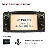 SMARTECH 2 Din Android 8 0 Car DVD Player GPS Navigation Autoradio For Toyota Corolla E120