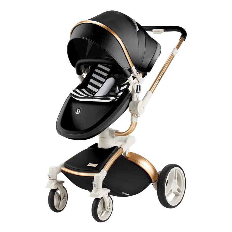 Luxury Baby Stroller Can Sit Reclining Double-sided Implementation High Landscape Stroller Baby Cradle Baby StrollerLuxury Baby Stroller Can Sit Reclining Double-sided Implementation High Landscape Stroller Baby Cradle Baby Stroller