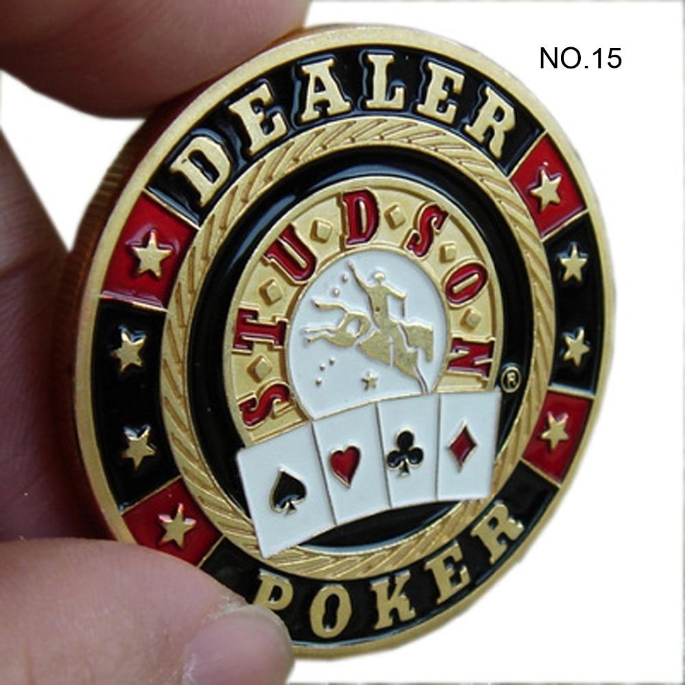 Metal for Pressing Poker Cards Guard Protector No.15  DEALER STUDSON  Poker Chips Souvenir Coins