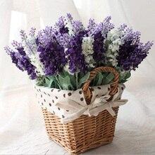 Pretty Charming Delightful 10 Head 1 Bouquet Mini lavender Artificial Silk Flower Bride Bridal Decal Home Decoration HHY0