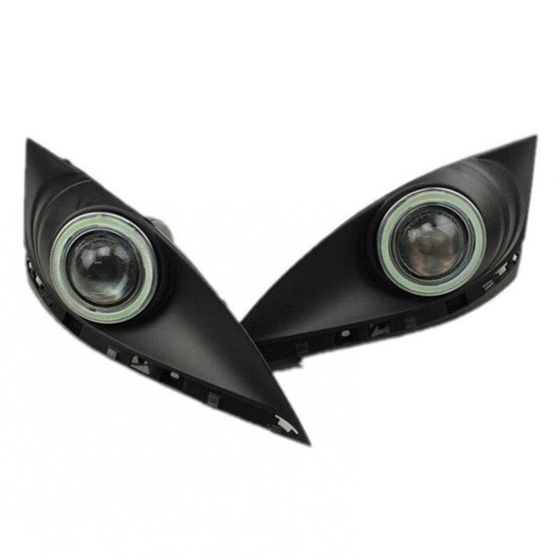 Auto-Styling Per Mazda 6 2010-2013 LED COB Angel Eyes DRL Giallo Luce di segnale H11 Alogena/Xenon Fari con Lente Del Proiettore