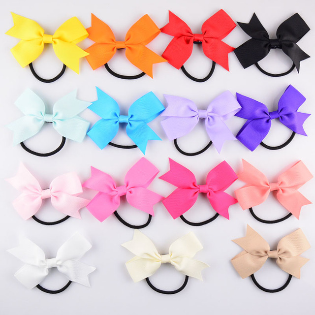 Girls 16 Candy Color Bows With Headbands 16pcs/lot Korean Popular ...