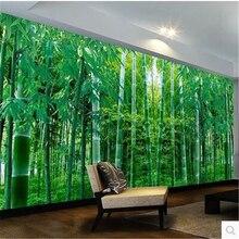 цена Bamboo Landscape custom papel de parede 3d papier peint 3d wallpaper roll background living room sofa bedroom murals wall paper онлайн в 2017 году