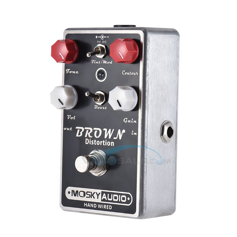 Mosky Brown Guitar Effect Pedal High Quality Distortion Effect With Full Metal Shell True Bypass Guitar