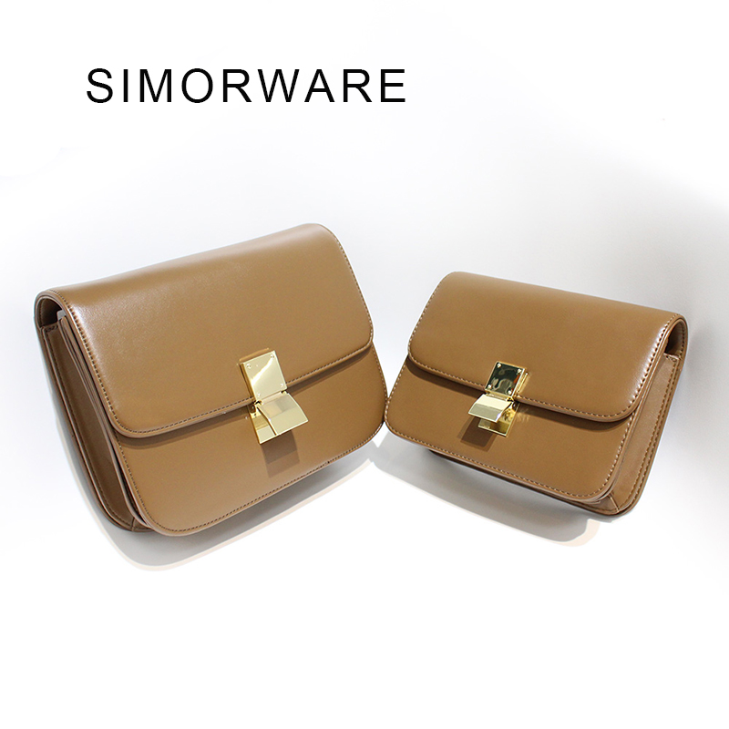 Hot Sale Luxury Brand Design Women Top Quality Celing Bag Women's Leather Square Shoulder Messenger Bag Classic Box Day Clutch