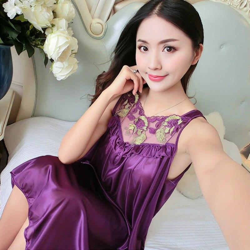 New Hot Sexy Women Multi Color Nightie Nightwear Lingerie Nightdress Sleepwear Dress Hot Sale Plus Size New Sexy Silk Nightgowns