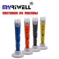 Myriwell 3d Ручка креативная 3D печать ручки интеллект Рисование 3d принтер ручка с ABS нити 3D Лучший подарок для детей принтер