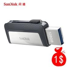 Sandisk Type-C USB Flash Pen Drive 16GB 32GB 64GB 128GB 150MBS USB Flash PenDrives USB3.1 Dual OTG Drives for Phone Computer PC