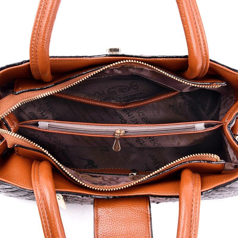 Image 4 - FLYONE Vintage Fashion Crocodile Genuine Leather Luxury Handbags Women Bags Designer Female Shoulder Bag Ladies Bolsas Feminina-in Shoulder Bags from Luggage & Bags