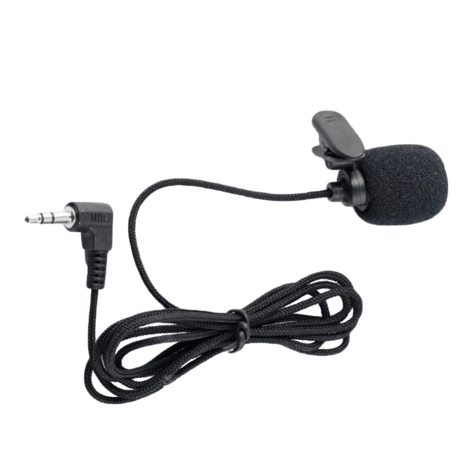 JRGK  Portable 3.5mm Mini Headset Microphone Lapel Lavalier Clip Microphone for Lecture Teaching Conference Guide Studio Mic