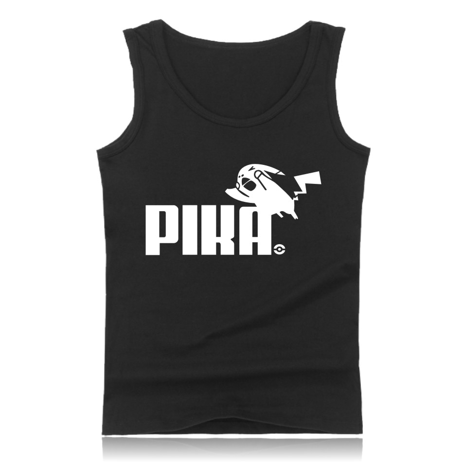 LUCKYFRIDAYF PIKA in Pokemon Go Tank Tops Men Women Summer Clothes with Pika Pocket Monster Casual Sleeveless Funny Game